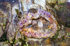 Beautiful gemstones in the mine Stock Photography