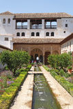 Beautiful Generalife gardens Royalty Free Stock Photography