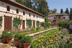 Beautiful Generalife gardens Stock Photography