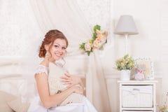 Beautiful gentle bride wedding Stock Photos