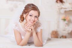 Beautiful gentle bride wedding Royalty Free Stock Photos