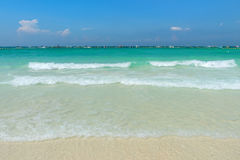 Beautiful gentle wave and ripple water at the tropical beach Royalty Free Stock Photos