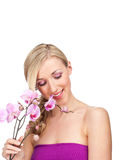 Beautiful gentle woman with a tender expression Royalty Free Stock Photography
