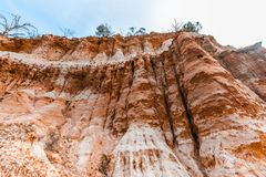 Eroding orange sandstone cliffs. royalty free stock photos
