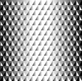 Beautiful geometric black and white tiled  pattern of triangles. Creating a 3d bulk metal texture Stock Images