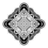 Beautiful geometric mandala. Ethnic abstract ornament design. Ve Stock Images