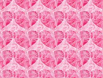 Beautiful geometric precious crystal graphic lovely artistic tender wonderful holiday bright Valentine pink hearts pattern waterco. Lor hand illustration vector illustration