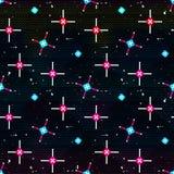 Beautiful geometric seamless pattern on a black background vector illustration. (vector eps 10 vector illustration