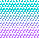 Beautiful geometric seamless pattern of white triangles on a tur Stock Image