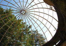 Beautiful geometry of an old garden pavilion, Serbia Royalty Free Stock Photography