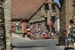 Free Beautiful Georgian Handmade Carpets Near Sighnaghi City Wall. Have A Walk And Enjoy The Handwork. Stock Image - 161070021