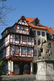 Beautiful German architecture. Half-timbered house in Germany, Bad Kreuznach Stock Photo