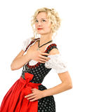 Beautiful german girl in dirndl Stock Photos