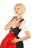 Beautiful german girl in dirndl Stock Photos