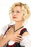 Beautiful german girl in dirndl Royalty Free Stock Images