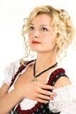 Beautiful german girl in dirndl Royalty Free Stock Images