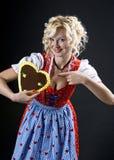 Beautiful german Girl in Dirndl Royalty Free Stock Image