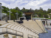 The beautiful Getty Villa. Los Angeles, JUL 20: The beautiful Getty Villa on JUL 20,2014 at Los Angeles Stock Photo