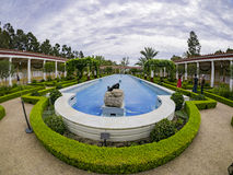 The beautiful Getty Villa. Los Angeles, JUL 20: The beautiful Getty Villa on JUL 20,2014 at Los Angeles Royalty Free Stock Images