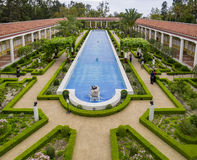 The beautiful Getty Villa. Los Angeles, JUL 20: The beautiful Getty Villa on JUL 20,2014 at Los Angeles Royalty Free Stock Image
