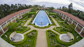 The beautiful Getty Villa. Los Angeles, JUL 20: The beautiful Getty Villa on JUL 20,2014 at Los Angeles Royalty Free Stock Photography