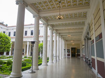 The beautiful Getty Villa. Los Angeles, JUL 20: The beautiful Getty Villa on JUL 20,2014 at Los Angeles Royalty Free Stock Photo