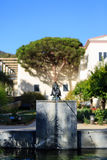 The beautiful Getty Villa. Los Angeles, SEP 28: The beautiful Getty Villa on SEP 28, 2014 at Los Angeles Stock Photo