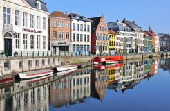Beautiful Ghent, Belgium Stock Photography