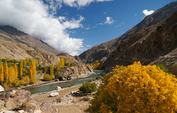 Beautiful Ghizer valley in Northern area of Pakistan Royalty Free Stock Photos