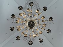 Beautiful giant lamp in a church royalty free stock images
