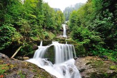 Beautiful Giessbach Falls in Brienz Royalty Free Stock Image