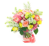 Beautiful gift bouquet Stock Images