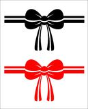 Beautiful gift bows. Royalty Free Stock Photography