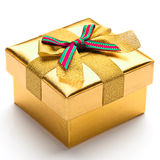Beautiful gift box. With a white background Stock Photos