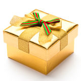Beautiful gift box. With a white background Royalty Free Stock Image