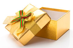 Beautiful gift box. With a white background Stock Photo