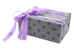 Beautiful gift box on   background. Beautiful gift box on white background Royalty Free Stock Images