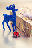 Beautiful gift box with Christmas decorations Royalty Free Stock Photography