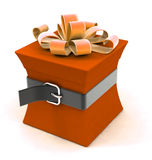 Beautiful gift box on a diet Royalty Free Stock Photo
