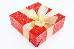 Beautiful Gift Box With Large Bow Royalty Free Stock Image