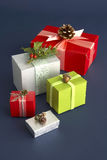 Beautiful gift boxes Royalty Free Stock Image