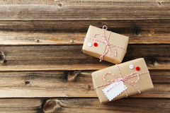 Beautiful gift boxes Royalty Free Stock Images