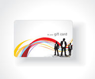 Beautiful gift card Stock Photography