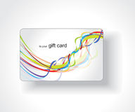 Beautiful gift card Stock Photo
