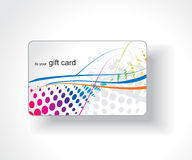 Beautiful gift card. Illustration Stock Photography