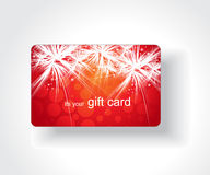 Beautiful gift card Stock Photo