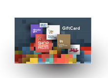 Beautiful gift card Design Stock Photography