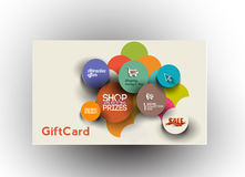 Beautiful gift card Design Stock Photos