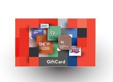 Beautiful gift card Design. Set of Beautiful gift card Design Stock Photos