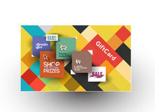 Beautiful gift card Design Stock Images